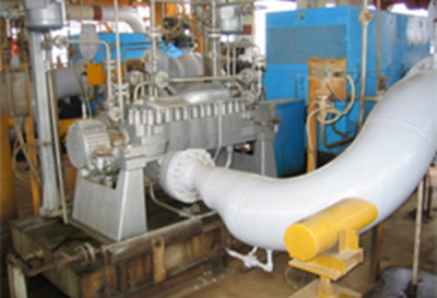 Design, complete overhaul and commissioning of the all Aboozar platform pumps
